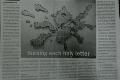 Business World, June 2014: Burning each holy letter
